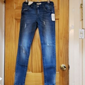 Forever 21 Skinny Ripped Jeans Medium Wash Sz 25